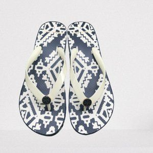 TORY BURCH Cut-Out Wedge Flip Flop